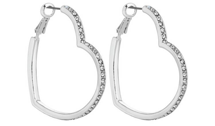 argos silver earrings
