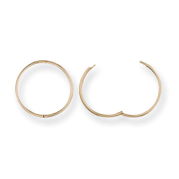 gold sleeper earrings