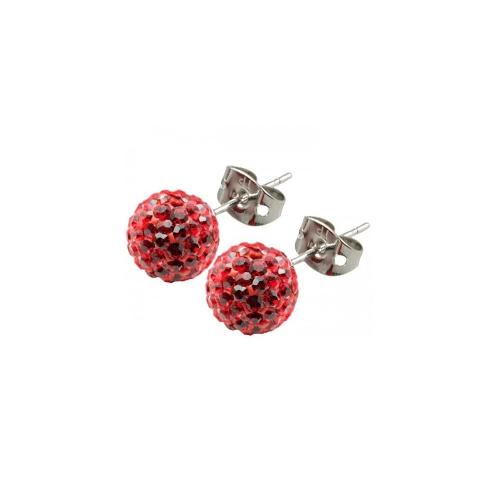 red earrings